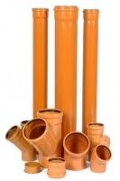Трубы ПВХ 110 мм прокладка в траншее