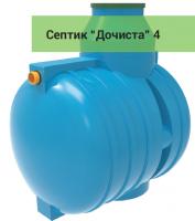 Септик ДОЧИСТА 4 самотечный 4 м3